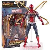 XXBH Juguetes Marvel Avengers Infinity War Iron Spider Spiderman Figura de acción PVC Spider Man Figura de colección Modelo de Juguete 17 cm Las Figuras de acción Juego niños