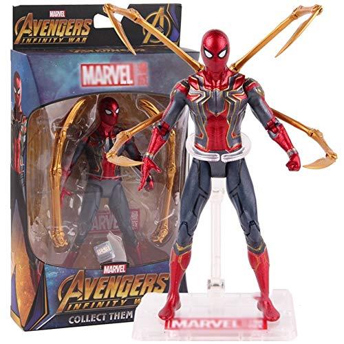 Muñeca de superhéroe - Juguetes Marvel Avengers Infinity War Iron Spider Spiderman Figura de acción PVC Spider Man Figura de colección Modelo de Juguete 17 cm Carácter de superhéroe