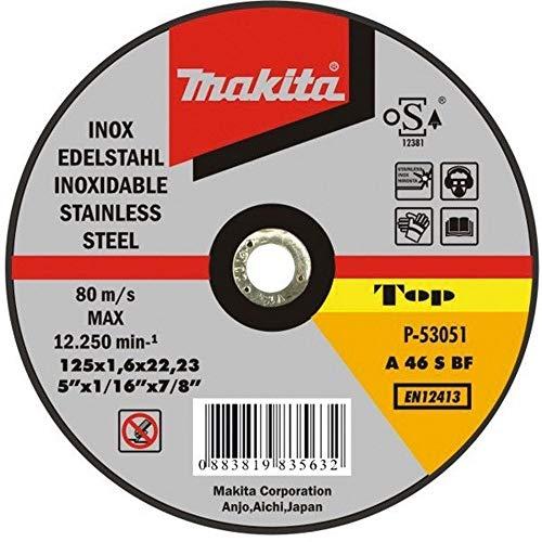 Makita P-53051 Extra-Disco Per Taglio in Acciaio Inox 22,23 X 1,6 X 125Mm