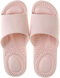 Women'S Summer Indoor Slippers Massage Non-Slip Soft Bottom Solid Fish Mouth Bathroom Shower Slippers Casual Shoes Male Unisex