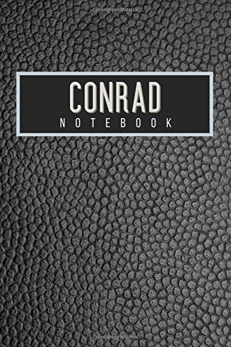 Conrad Notebook: Personalised gift notebook for Conrad: Beautiful black leather effect notebook notepad: Handy 6x9in size.