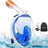 MOSFiATA Full Face Snorkeling Mask, Snorkel Mask 180?? Seaview for Kids, Easy Breathing Snorkeling Masks,...