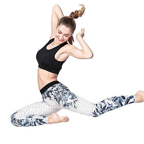 Zjcpow Pantalones de Yoga para Mujer Cintura Alta Pantalones de Yoga Control de la Barriga Entrenamiento Correr Camino Estiramiento Yoga Leggings Pantalones Deportivos para Adelgazar Medias Activos