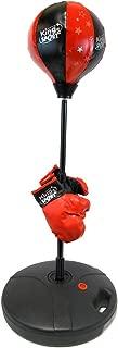 Velocity Toys Children's Beginning Freestanding Reflex Punching Bag w/ Pair of Gloves, Adjustable Height 48