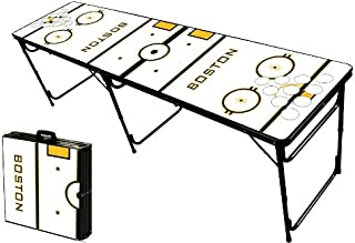 8-Foot Professional Beer Pong Table w/Optional Cup Holes - Boston Hockey Rink Graphic