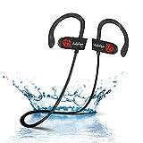 Auriculares Bluetooth, BELLESTYLE Auriculares inalámbricos Deportivos 4.1 Auriculares con micrófono Incorporado, Deportes Manos Libres y cancelación de Ruido, Sonido estéreo Superior Impermeable IPX7