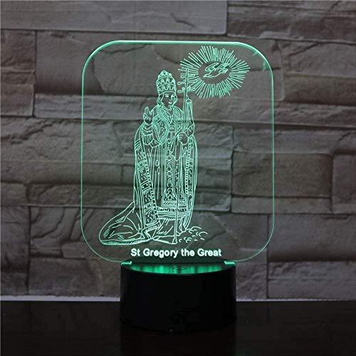 3D LED Illusion LamplightUSB Lámpara de mesa multicolor Dormir Regalo innovador Decoración del hogar-16 colors remote