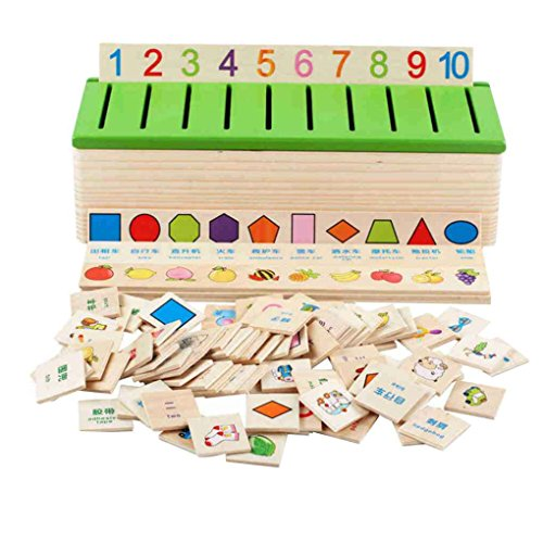 Floridivy Houten Classification Box Pattern Matching classificeren baby speelgoed Teach Geometry Fruit Animal voor Early Education