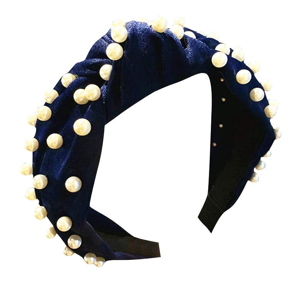 ビル仕事誓うヘッドバンド レディース ヘアバンド 洗髪用アクセサリー 花柄 ビード 結び目 装飾 可愛い ヘッドウェア ターバン