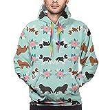 Cavalier King Charles Spaniel Dogs Cotton Sweatshirt Hoodie for Men or Women American Flag Patriotic Jacket Sweater Mens Black