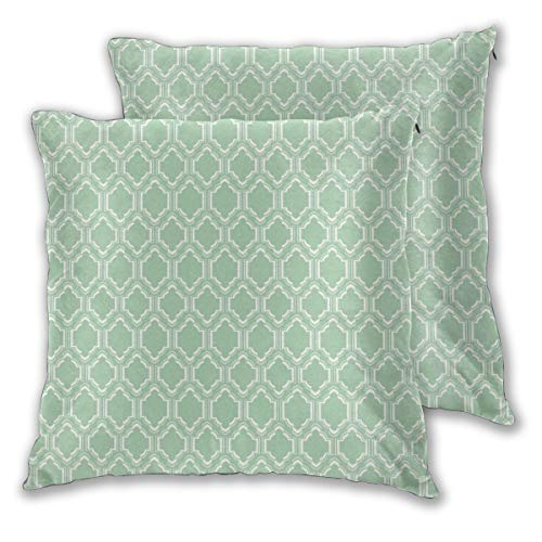 Pack de 2 fundas de almohada cuadradas decorativas suaves, elegantes fundas de cojín marroquíes, para sofá, dormitorio, coche, 50,8 x 50,8 cm