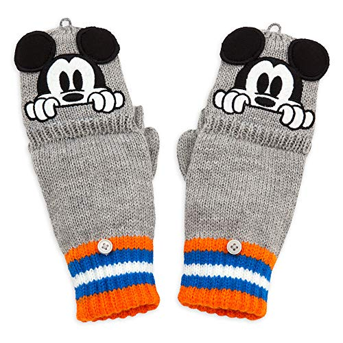 Disney Mickey Mouse - Guantes convertibles para niños, color gris