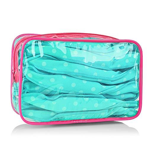 rodillos para el cabello, MS.DEAR Flexible Rizadores de Pelo de Espuma, 30 piezas Suaves Almohada de Sueño, Herramientas de Estilismo DIY- Azul