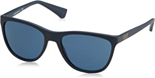 6357d632b1 Emporio Armani Earmani 4053 Gafas de sol, Matte Blue 536880, 57  Unisex-Adulto