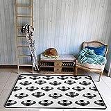 Liz Carter 36X24inch Wohnzimmer Teppich, ägyptischen legendären Käfer Skarabäus Silhouetten folkloristischen Insekt mit Flügeln Kunst, Kinder Krabbeln Schlafzimmer Teppich, e