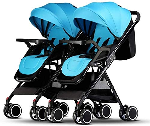 Read About Xinhuatian Foldable Twin Baby Stroller, Portable Double Pushchairs Adjustable Backrest De...