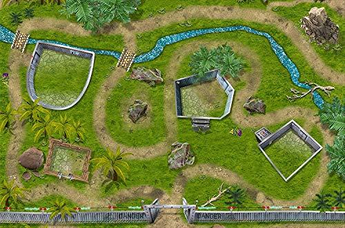 Parque de dinosaurio alfombra infantil de juego | SM07 | De buena calidad para el cuarto de los niños | Tamaño: 150 x 100 cm | Accesorios adecuados para Schleich, Papo, Bullyland, Playmobil etc. | STIKKIPIX