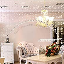 Discount4product 10 String 3 ft Acrylic Crystal Plastic Strings Bead Hanging Curtain (Transparent)