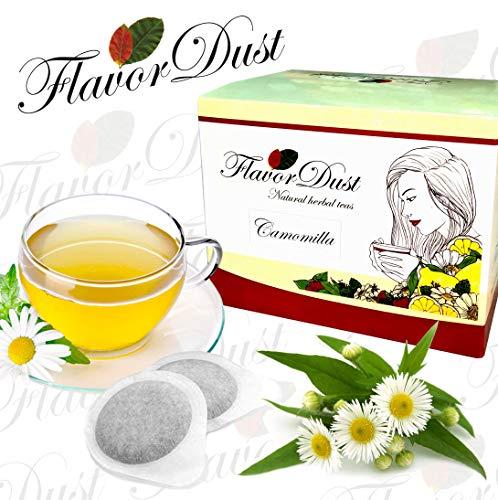 Flavordust Tisane 60 Cialde Camomilla Naturale in carta filtro formato standard ESE per Macchine a cialde caffè