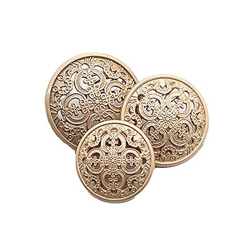 20 botones de costura de metal estilo corte resistente forma redonda botón traje botones blazer botones