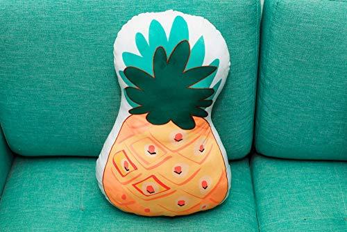 qingbaobao Natürliche Ananas Plüsch Kissen Weiche Doppel Druckereien Stofftiere Home Sofa Dekoration Puppe Kissen Freundin Geschenke 45 cm