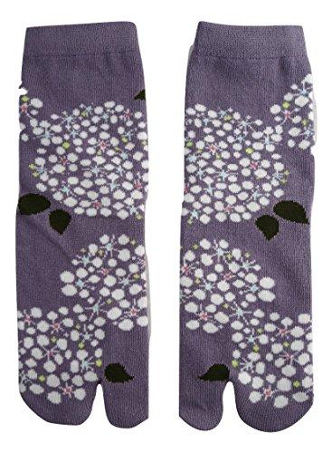 Kurochiku Japanische Tabisocken mit getrenntem Zehenbereich, Reeves Spirea, Einheitsgröße 23 - 25 cm