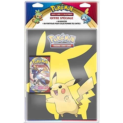 Pokemon Epée et Bouclier-Série 1 (EB01) : Pack Portfolio + Booster, POB09EB01