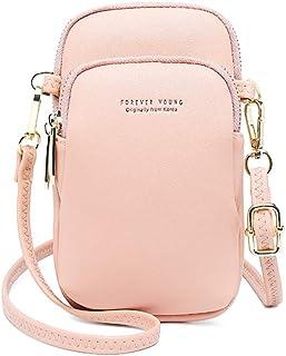 Jangostor kleine Crossbody Tasche Handy - Tasche Brieftasche mit Credit Card Slots für Frauen (Rosa)