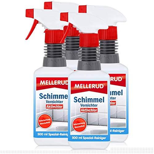 4x Mellerud Schimmel Vernichter chlorhaltig 500 ml