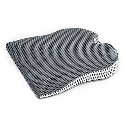 Premium Comfortable Memory Foam-Sitzkissen, Steißbeinkissen für Rücken- Hüft- und Steißbeinschmerzen, orthopädisches Stuhlpolster für Bürostuhl Computerstuhl und Auto,Grey