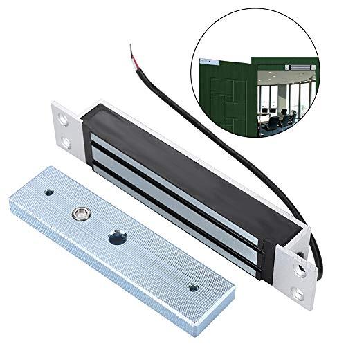 180kg / 350Lbs Elektromagnetisch magnetisch slot met enkele deur, houdkracht Elektrisch magnetisch slot voor toegangscontrolesysteem voor deuren Elektromagneet faalveilige NC-modus voor houten deuren, glazen deuren, metalen deuren