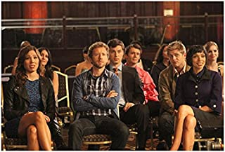 Bones T.J Thyne Seated with Cast Looking On 8 x 10 inch photo