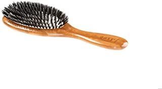 Brush - Medium Oval Cushion 100% Wild Boar/Nylon Bristle Wood Handle Bass Brushes 1 Brush