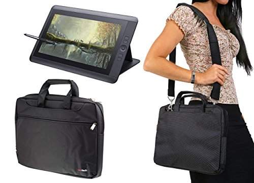 Navitech Black Graphics Tablet Case/Bag Compatible with The HUION KAMVAS GT-156HD V2 15.6'' Graphics Drawing Tablet Monitor
