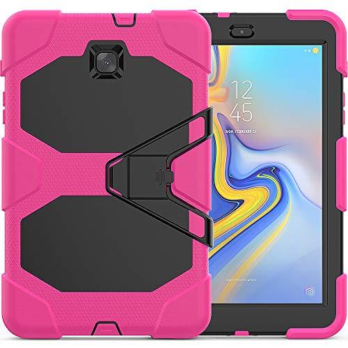 TianTa Funda para Galaxy Tab A 9.7 SM-T550, Heavy Duty Protector de Silicona + PC a Prueba de Golpes con Protector Integrado & Soporte para Samsung Tab A 9.7 Pulgadas 2015 SM-T550/ P550 - Rosa