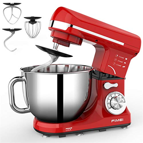 FIMEI Stand Mixer 660W, 5.5 Qt Food Mixer, 6-Speed Tilt-Head Kitchen Mixer with Stainless Steel Bowl...