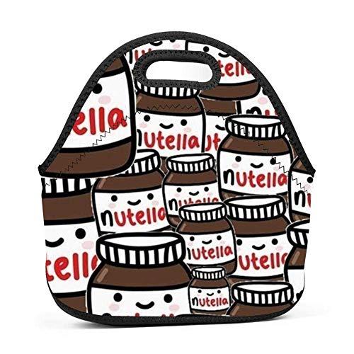 Dozili Fondos Tumblr Nutella große und dicke Neopren-Lunchtasche isolierte Lunchtasche Kühltasche Warme Tasche mit Schultergurt für Damen, Teenager, Mädchen, Kinder, Erwachsene