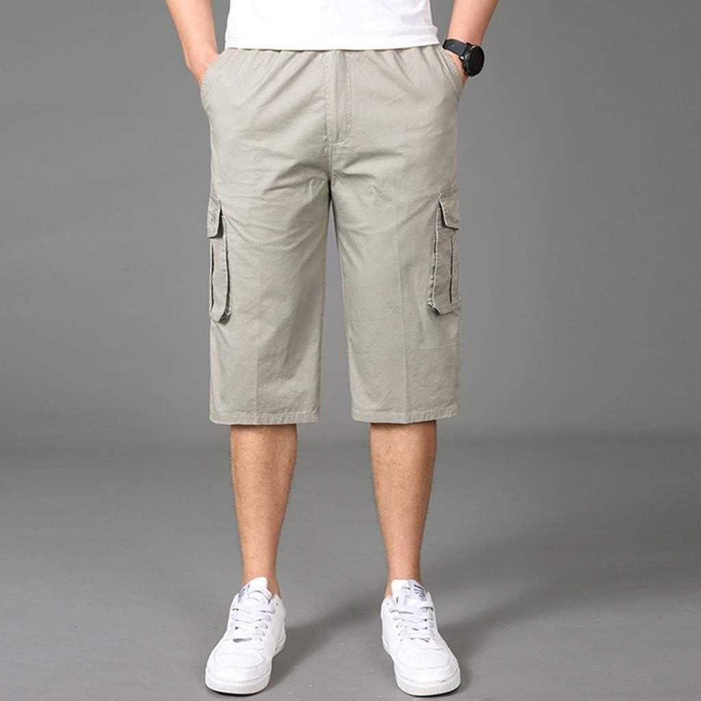 MODOQO Tooling Shorts for Men,Summer Fashion Seven Point Multi-Pocket Facilitate Shorts
