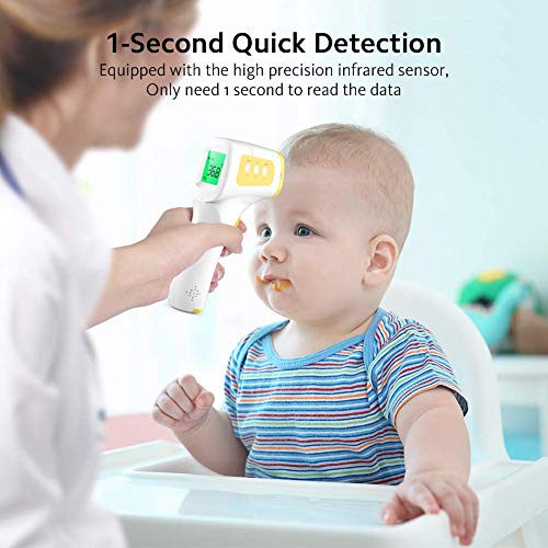 CocoBear Thermometer Baby Forehead Thermometer with Fever Alert Function, 3 in 1 Digital Infrared Thermometer for Baby and Adults