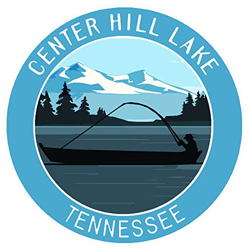 Bass Fishing Center Hill Lake Tennessee Vinyl Printed Die-Cut Decorative Auto Decal Sticker Appliques ~ Lake Life Outdoor Series