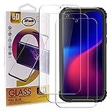 guran 3 pezzi pellicola protettiva in vetro temperato per blackview bv5900 smartphone 9h durezza anti-impronte hd alta trasparenza pellicola