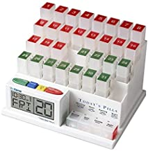 MedCenter (70265) 31 Day Pill Organizer with Reminder System