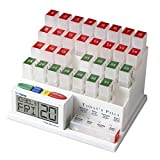 Image of MedCenter (70265) 31 Day Pill Organizer with Reminder System