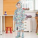 weichuang Chubasquero para niños con capucha impermeable para niños de Japón impermeable impermeable para niños (color: azul, talla: S)