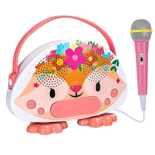 N\A Kids Karaoke Machine with Microphone Children Karaoke Singing Machine Toddlers Girls Karaoke Birthday Gifts Toddlers Mini Karaoke Machine Box for Girls Age 3-12 Years Old