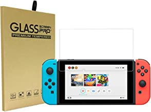 Nintendo Switch Screen Protector,Nintendo Switch Toughened Membrane, Anti-Scratch Full Coverage HD Clear 9H Film Surface Hardness Tempered Glass for Nintendo Switch (Transparent)