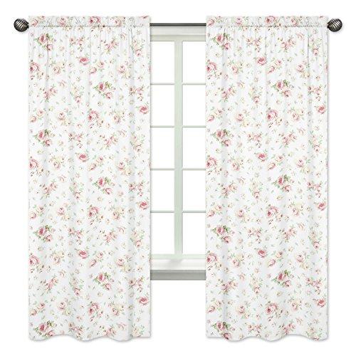 Sweet Jojo Designs 2-Piece Riley's Roses Window Treatment Panels