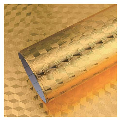 WHYBH HYCSP Moderne Küche Ölbeständiges Self Adhesive Aufkleber Anti-Fouling-Hochtemperatur-Aluminiumfolie Gasherd Kabinett Kontakt Tapete (Color : F, Size : 1mx60cm)