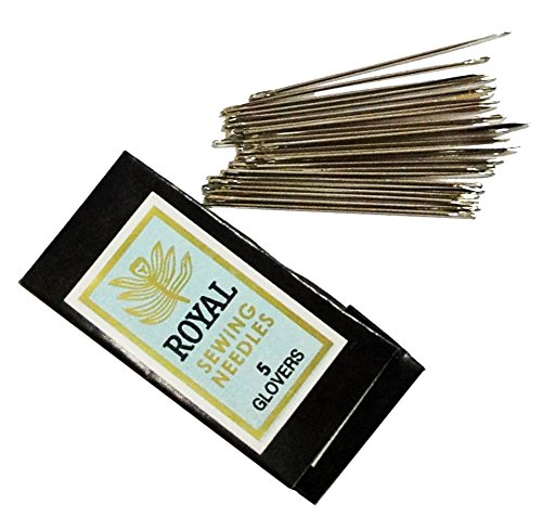 HAND Glovers Needles Size 5 Triangle Shape Leather Craft 40 mm - Pack of 25