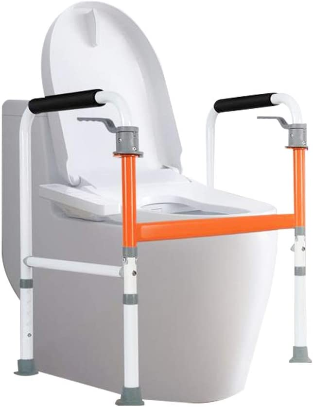 LiLi_Shop Toilet Safety Frames Armrest Tulsa Mall Rails Deluxe Punch-Free T